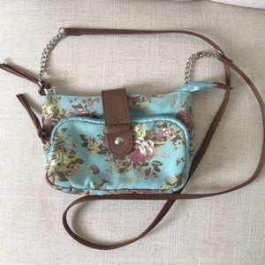 Small floral crossbody purse